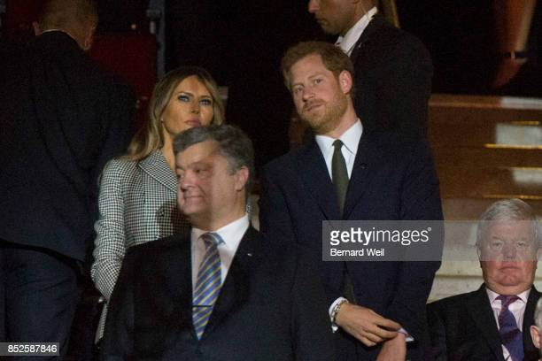 TORONTO ON DECEMBER 31 Dignitaries watch as the athlete parade into the arena during the opening ceremony of the Invictus Games at Air Canada Centre...