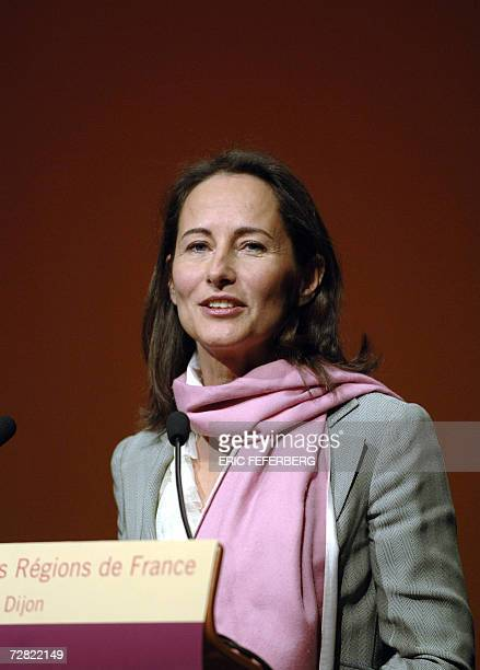 French socialist candidate in next year's presidential election Segolene Royal delivers a speech during the congress of the Regions Association 14...