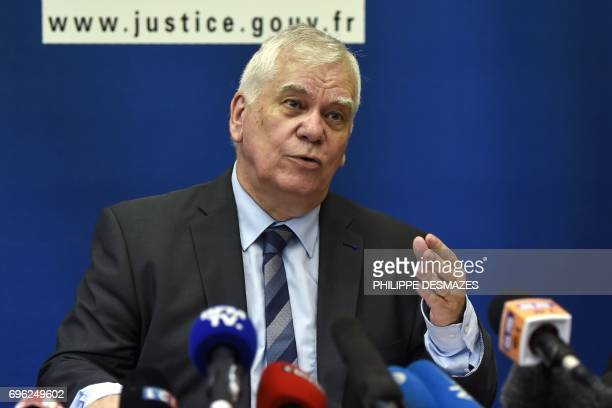 Dijon's general prosecutor JeanJacques Bosc gives a press conference in Dijon on June 15 on the case of the 1984 killing of the fouryearold Gregory...