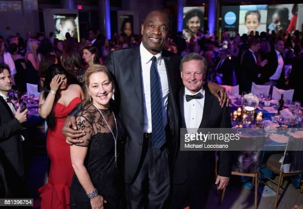 Dikembe Mutombo and Jim Barber attend 13th Annual UNICEF Snowflake Ball 2017 at Cipriani Wall Street on November 28 2017 in New York City
