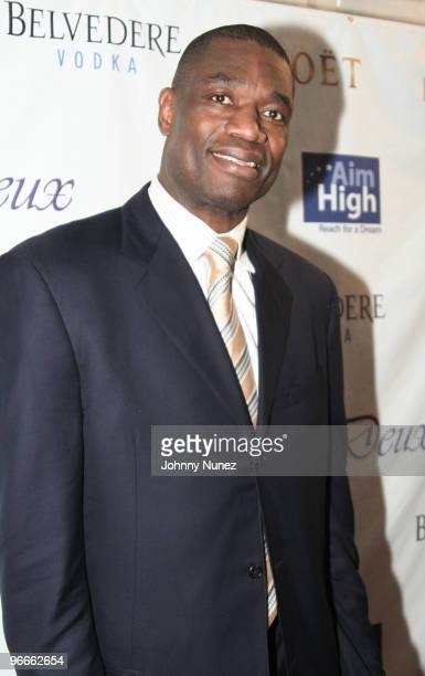 Dikembe Mutombo attends the Kenny Smith 8th Annual AllStar Bash on February 12 2010 in Dallas Texas