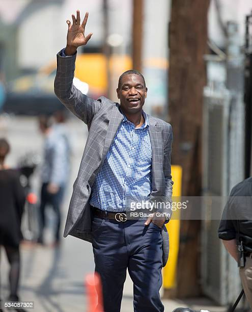 Dikembe Mutombo is seen at 'Jimmy Kimmel Live' on May 24 2016 in Los Angeles California