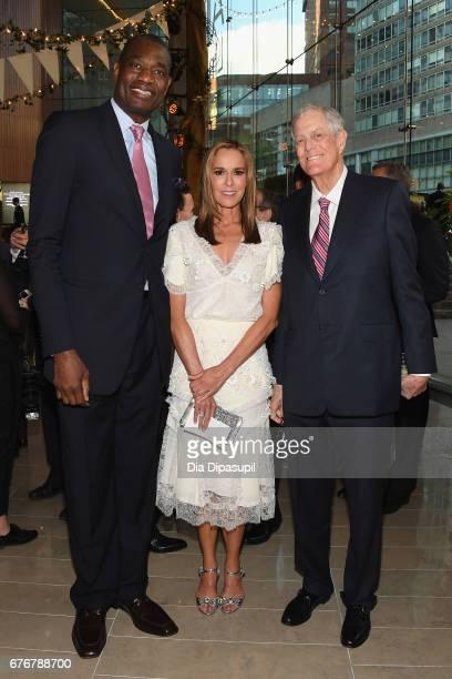 Dikembe Mutombo Julie Koch and David H Koch attend the Lincoln Center Spring Gala at Alice Tully Hall on May 2 2017 in New York City