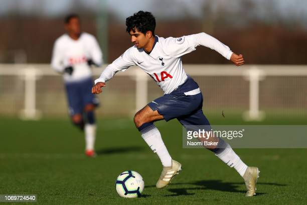 Dilan Markanday of Tottenham in action during the Premier League 2 between Tottenham Hotspur and Everton at Tottenham Hotspur FC Training Centre on...