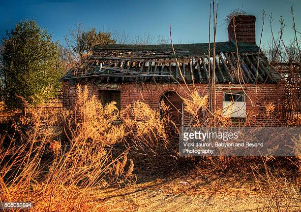 dilapidated building at caumsett state park - huntington suffolk county new york state stock pictures, royalty-free photos & images