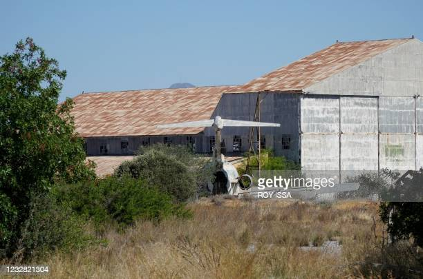Dilapidated Cyprus Airways Trident 2E aircraft, sits on the tarmac of the abandoned Nicosia airport in the UN-protected buffer zone of the divided...