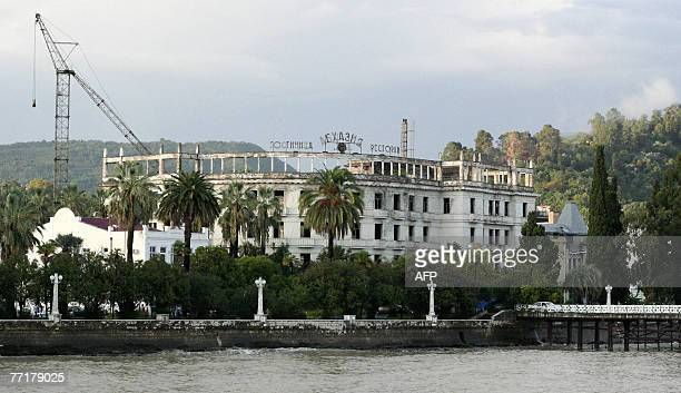 MAINVILLE A dilapidated hotel is pictured 25 September 2007 in Sukhumi Abkhazia region 25 kilometres south of the GeorgianRussian border Sochi where...