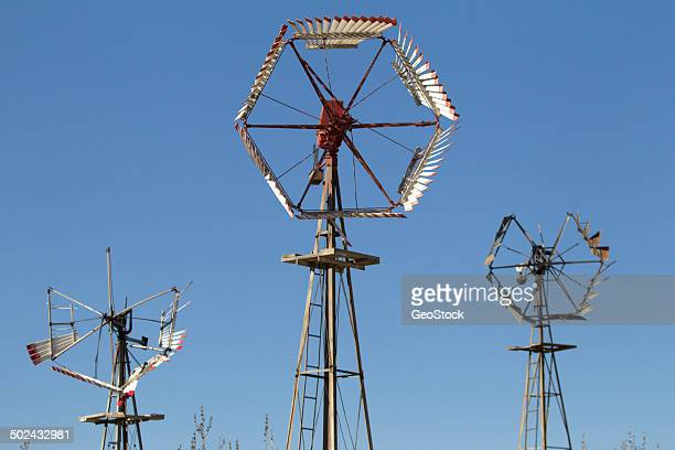 dilapidated windmills - american style windmill stock pictures, royalty-free photos & images