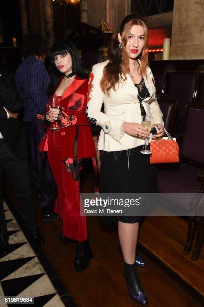 Dilara Findikoglu and Chloe Rosolek attend a dinner to celebrate the launch of the Luisaviaroma LVR Edition 3 project by Dilara Findikoglu at Andaz...