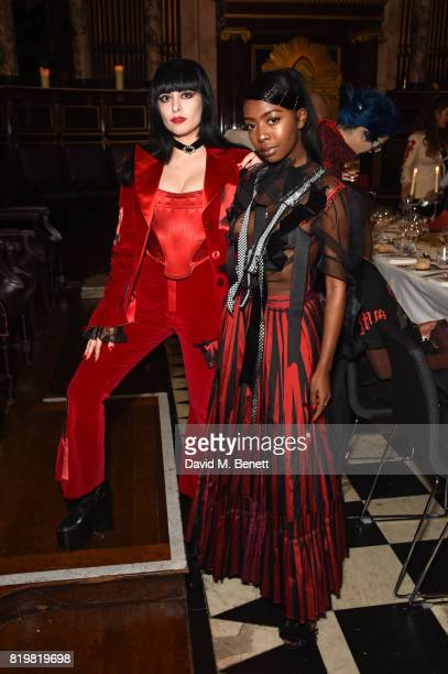 Dilara Findikoglu and Siobhan Bell attend a dinner to celebrate the launch of the Luisaviaroma LVR Edition 3 project by Dilara Findikoglu at Andaz...