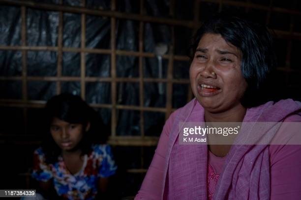 HAKIMPARA UKHIYA BANGLADESH Dildar Begum describes how she lost her two children and was tortured by the Myanmar Army when she was Tulatuli village...