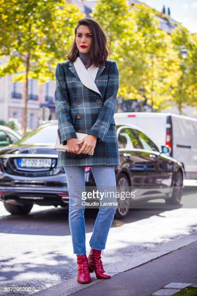 Diletta Bonaiuti is seen before the Miu Miu show during Paris Fashion Week Womenswear SS18 on October 3 2017 in Paris France