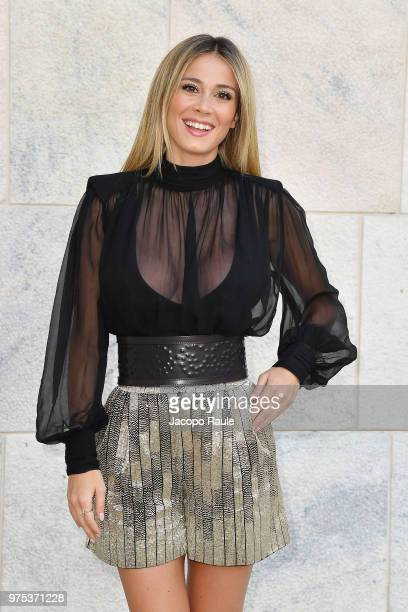 Diletta Leotta arrives at the Alberta Ferretti show during Milan Men's Fashion Week Spring/Summer 2019 on June 15 2018 in Milan Italy