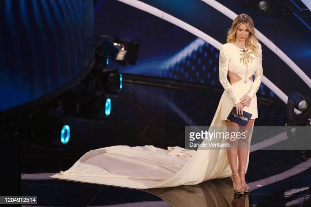 Diletta Leotta attends the 70° Festival di Sanremo at Teatro Ariston on February 08 2020 in Sanremo Italy