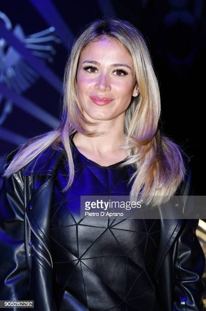 Diletta Leotta attends the Frankie Morello show during Milan Men's Fashion Week Fall/Winter 2018/19 on January 15 2018 in Milan Italy