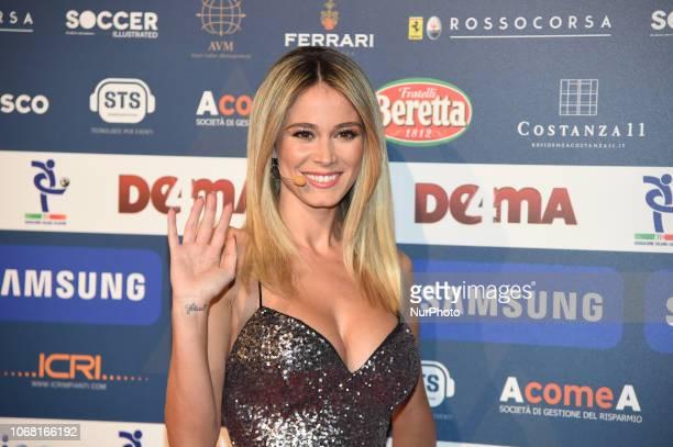 Diletta Leotta attends the Gran Gala Del Calcio 2018 on December 3 2018 in Milan Italy