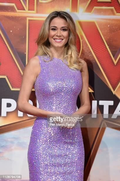 Diletta Leotta attends the photocall for Captain Marvel at on March 5 2019 in Milan Italy