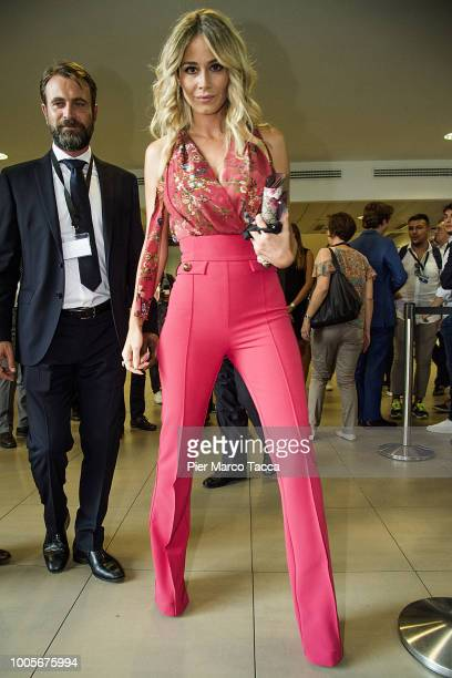 Diletta Leotta attends the Serie A 2018/19 Fixture unveiling on July 26 2018 in Auronzo di Cadore nearMilan Italy