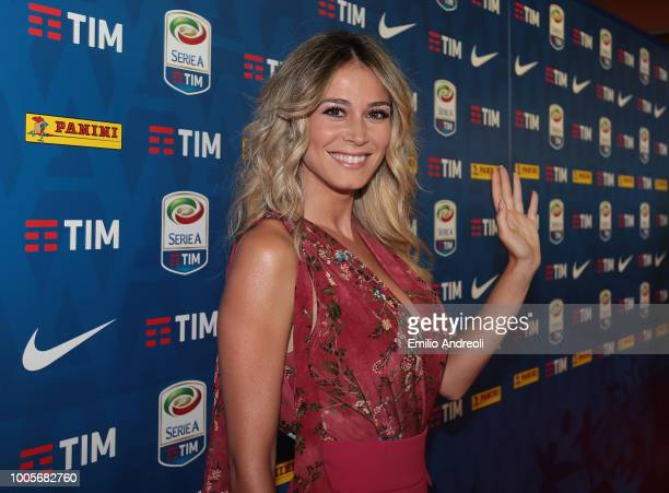 Diletta Leotta attends the Serie A 2018/19 Fixture unveiling on July 26 2018 in Milan Italy