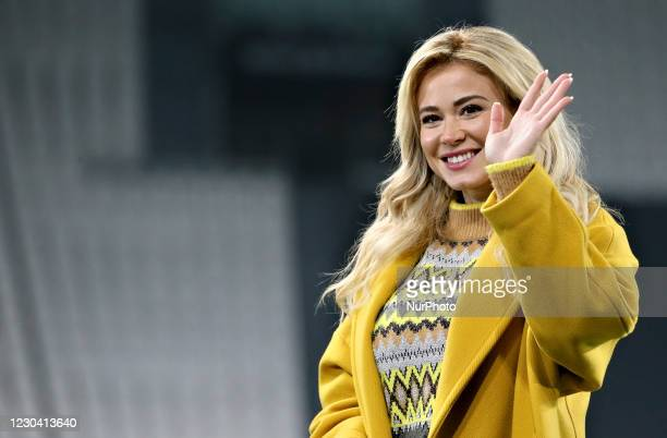 Diletta Leotta attends the Serie A match between Juventus and Udinese Calcio at Allianz Stadium on January 03, 2021 in Turin, Italy.