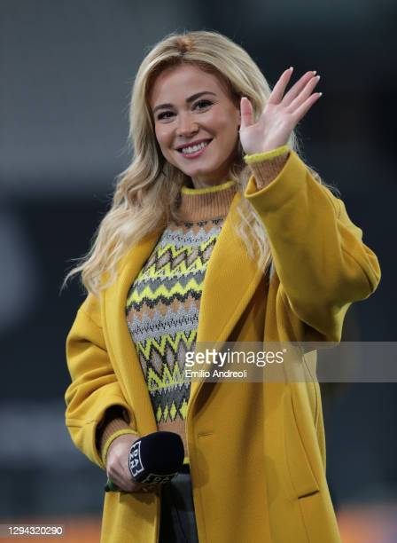 Diletta Leotta attends the Serie A match between Juventus and Udinese Calcio at Allianz Stadium on January 03, 2021 in Turin, Italy. Sporting...