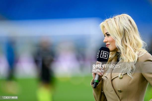 Diletta Leotta, Dazn television presenter, during the Serie A match between AS Roma and FC Internazionale at Stadio Olimpico, Rome, Italy on 10...