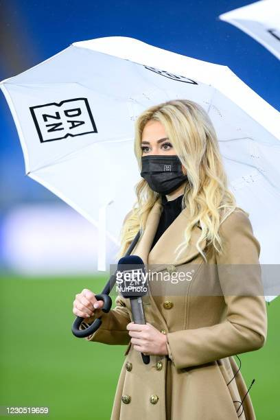 Diletta Leotta, DAZN television presenter during the Serie A match between AS Roma and FC Internazionale at Stadio Olimpico, Rome, Italy on 10...