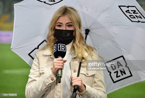 Diletta Leotta, DAZN television presenter prior the Serie A match between Parma Calcio and Juventus at Stadio Ennio Tardini on December 19, 2020 in...