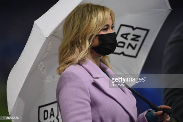 Diletta Leotta, DAZN television presenter prior the Serie A match between SSC Napoli and Spezia Calcio at Stadio Diego Armando Maradona Naples Italy...