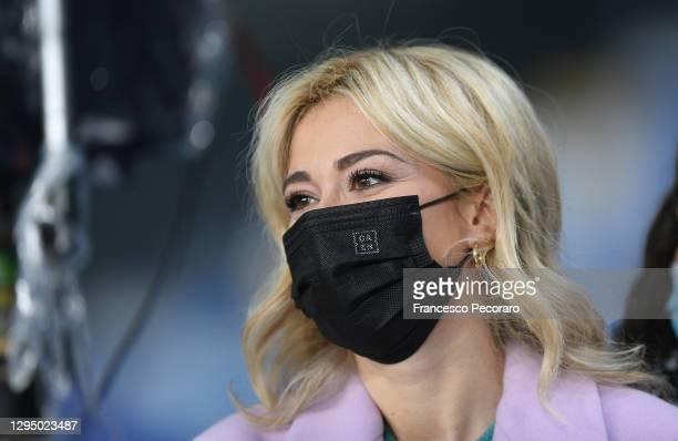 Diletta Leotta, DAZN television presenter prior the Serie A match between SSC Napoli and Spezia Calcio at Stadio Diego Armando Maradona on January...
