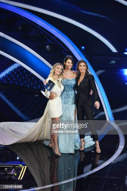 Diletta Leotta Francesca Sofia Novello and Sabrina Salerno attends the 70° Festival di Sanremo at Teatro Ariston on February 08 2020 in Sanremo Italy