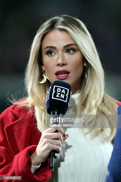 Diletta Leotta journalist attends the Serie A match between ACF Fiorentina and AC Milan at Stadio Artemio Franchi on February 22 2020 in Florence...