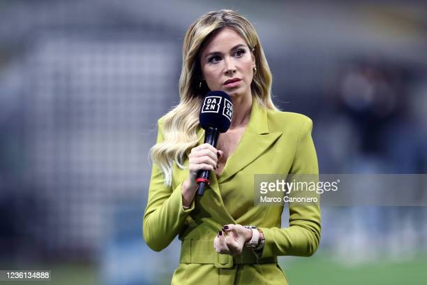 Diletta Leotta , journalist of Danz, prior to the Serie A match between Fc Internazionale and Juventus Fc. The match ends in a tie 1-1.