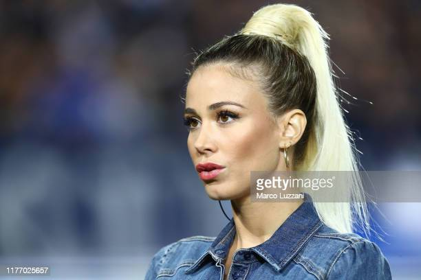 Diletta Leotta of DAZN before the Serie A match between Brescia Calcio and Juventus at Stadio Mario Rigamonti on September 24 2019 in Brescia Italy