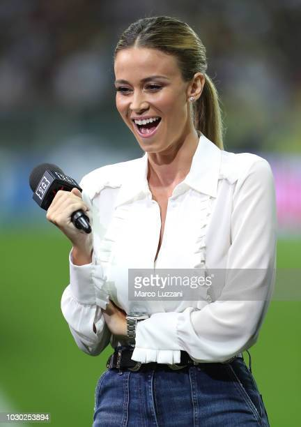 Diletta Leotta of DAZN before the serie A match between Parma Calcio and Juventus at Stadio Ennio Tardini on September 1 2018 in Parma Italy