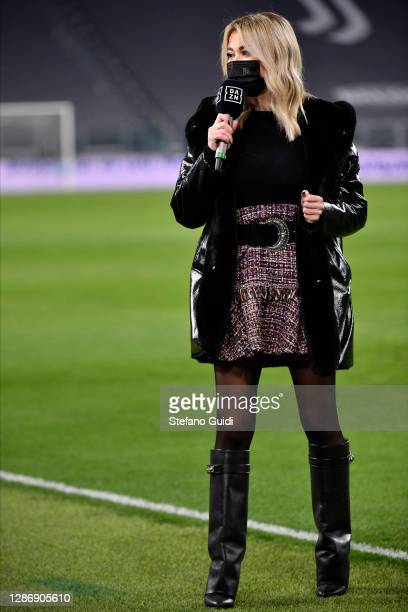 Diletta Leotta of Dazn prior to the Serie A match between Juventus and Cagliari Calcio at on November 21, 2020 in Turin, Italy.