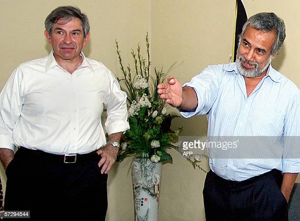 East Timor President Xanana Gusmao gestures during a visit by World Bank president Paul Wolfowitz in Dili 10 April 2006 Wolfowitz began a twoday...