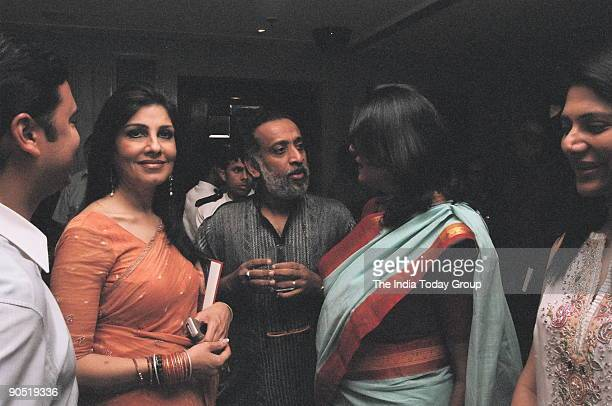 Dilip Cherian with wife Dilip Cherian at MJ Akbar's editor Asian Age book