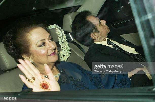 Dilip Kumar and Saira Banu arrive for Shahrukh Khan's EidulFitr bash thrown on Saturday in Mumbai