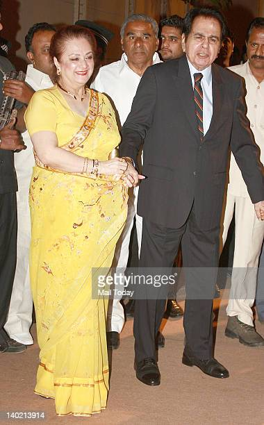 Dilip Kumar And Saira Banu At Dheeraj Deshmukh Deepshikha Bhagnani Wedding Reception Held In Mumbai