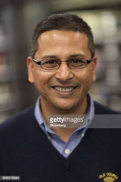 Dilip Kumar vice president of technology for Amazon Go stands for a photograph at the Amazon Go store in Seattle Washington US on Wednesday Jan 17...