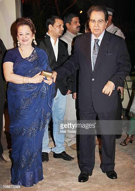 Dilip Kumar with his Wife Saira Banu at Imran Khan and Avantika Malik's wedding reception party which was organised by Aamir Khan and Kiran Rao at...