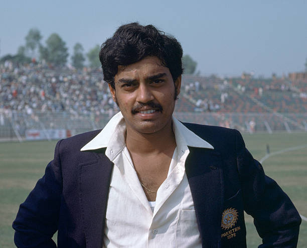 Dilip Vengsarkar of India during the 2nd Test match between Pakistan and India at the Gaddafi Stadium Lahore Pakistan 27th October 1978