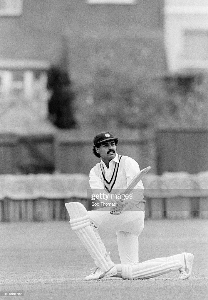 Dilip Vengsarkar of India during the Gloucestershire v India match played at Cheltenham on the 10th May 1986.