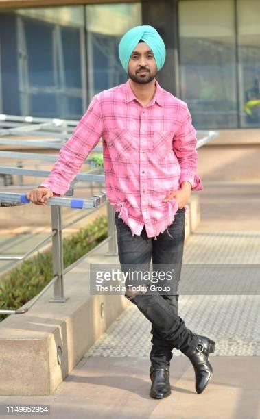 Diljit Dosanjh poses for a photograph while promoting his upcoming filmShadaa at Novotel Hotel in Mumbai