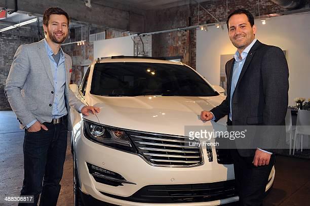 Dillon Blanski left Lincoln MKC Exterior Designer and Antonio Molinari Lincoln MKC Interior Designer show the all new Lincoln MKC at a design...