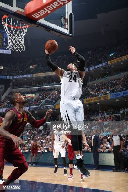Dillon Brooks of the Memphis Grizzlies handles the ball against the Cleveland Cavaliers on February 23 2018 at FedExForum in Memphis Tennessee NOTE...