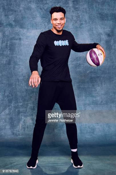 Dillon Brooks of the Memphis Grizzlies poses for portraits during the NBAE Circuit as part of 2018 NBA AllStar Weekend on February 15 2018 at the JW...