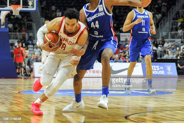 Dillon Brooks seen in action during the Canada national team vs Dominican Republic national team in the FIBA Basketball World Cup 2019 Qualifiers at...