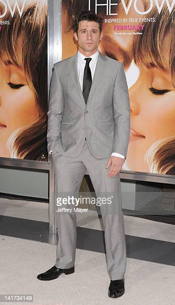 Dillon Casey arrives at The Vow Los Angeles Premiere at Grauman's Chinese Theatre on February 6 2012 in Hollywood California
